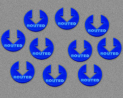 Routed Tokens, Blue (10) - LITKO Game Accessories
