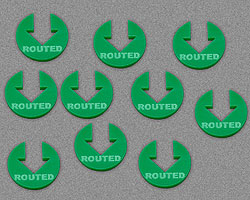 Routed Tokens, Green (10) - LITKO Game Accessories