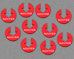 Routed Tokens, Red (10) - LITKO Game Accessories