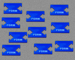 Form Tokens, Blue (10) - LITKO Game Accessories