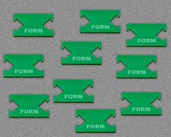 LITKO Form Tokens, Green (10) - LITKO Game Accessories