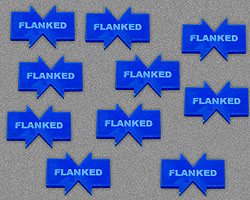 Flanked Tokens, Blue (10) - LITKO Game Accessories