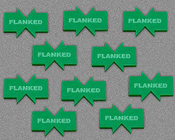 Flanked Tokens, Green (10) - LITKO Game Accessories