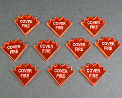Cover Fire Tokens, Fluorescent Amber (10) - LITKO Game Accessories