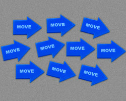 Move Tokens, Blue (10) - LITKO Game Accessories