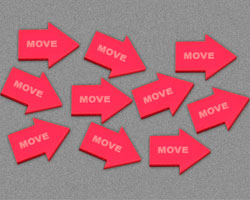Move Tokens, Red (10) - LITKO Game Accessories