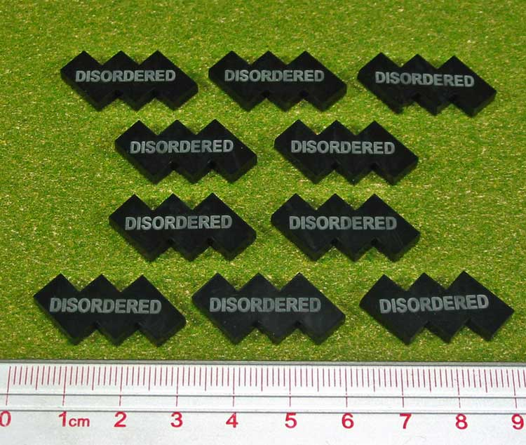 Disordered Tokens, Black (10) - LITKO Game Accessories