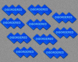 Disordered Tokens, Blue (10) - LITKO Game Accessories