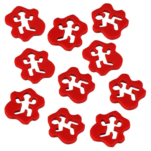 LITKO Obviously Dead Tokens, Red (10) - LITKO Game Accessories