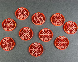 LITKO Overwatch Tokens, Fluorescent Amber  (10) - LITKO Game Accessories