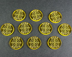 LITKO Overwatch Tokens, Transparent Yellow (10) - LITKO Game Accessories