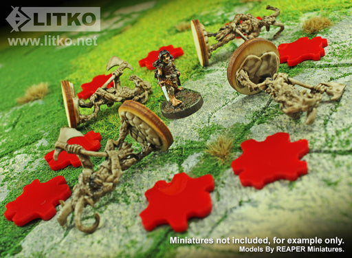 Blood Splatter Tokens, Red (10) - LITKO Game Accessories
