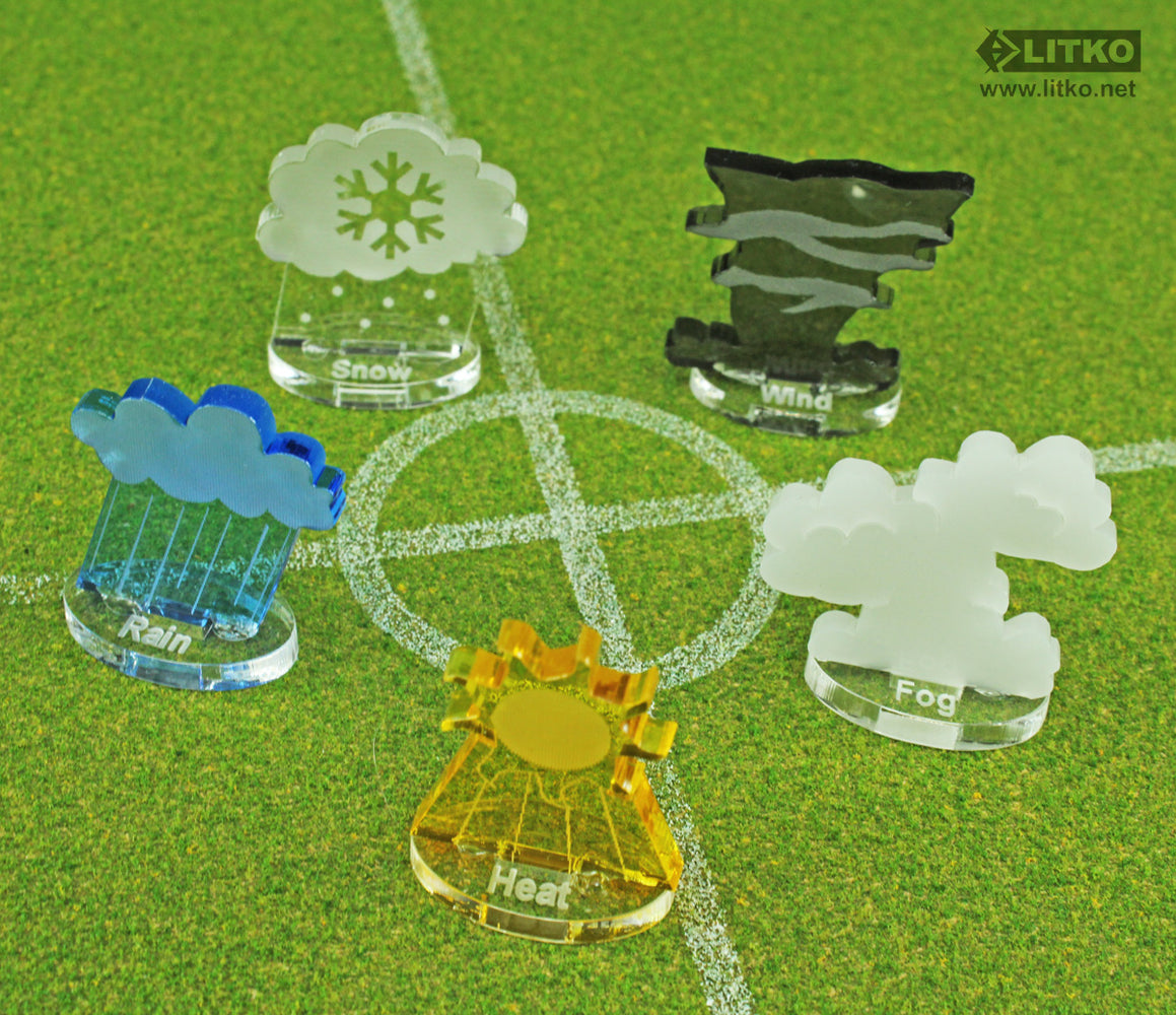 Weather Effect Marker Set, Multi-Color (5) - LITKO Game Accessories