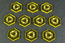 LITKO Space Mine Tokens, Transparent Yellow (10) - LITKO Game Accessories