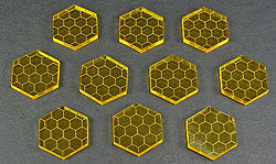 Space Shield Tokens, Transparent Yellow (10) - LITKO Game Accessories