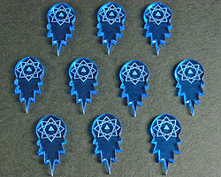 Space Torpedo Token, Fluorescent Blue  (10) - LITKO Game Accessories