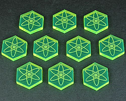 LITKO Energy Tokens, Fluorescent Green (10) - LITKO Game Accessories