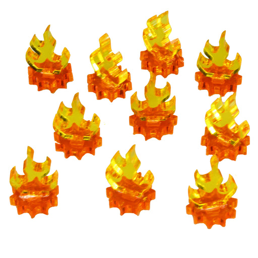 LITKO Flame Markers, Mini, Fluorescent Amber & Transparent Yellow (10) - LITKO Game Accessories