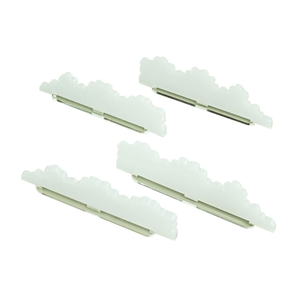 Smoke Screen Markers, Small, Translucent White (4) - LITKO Game Accessories