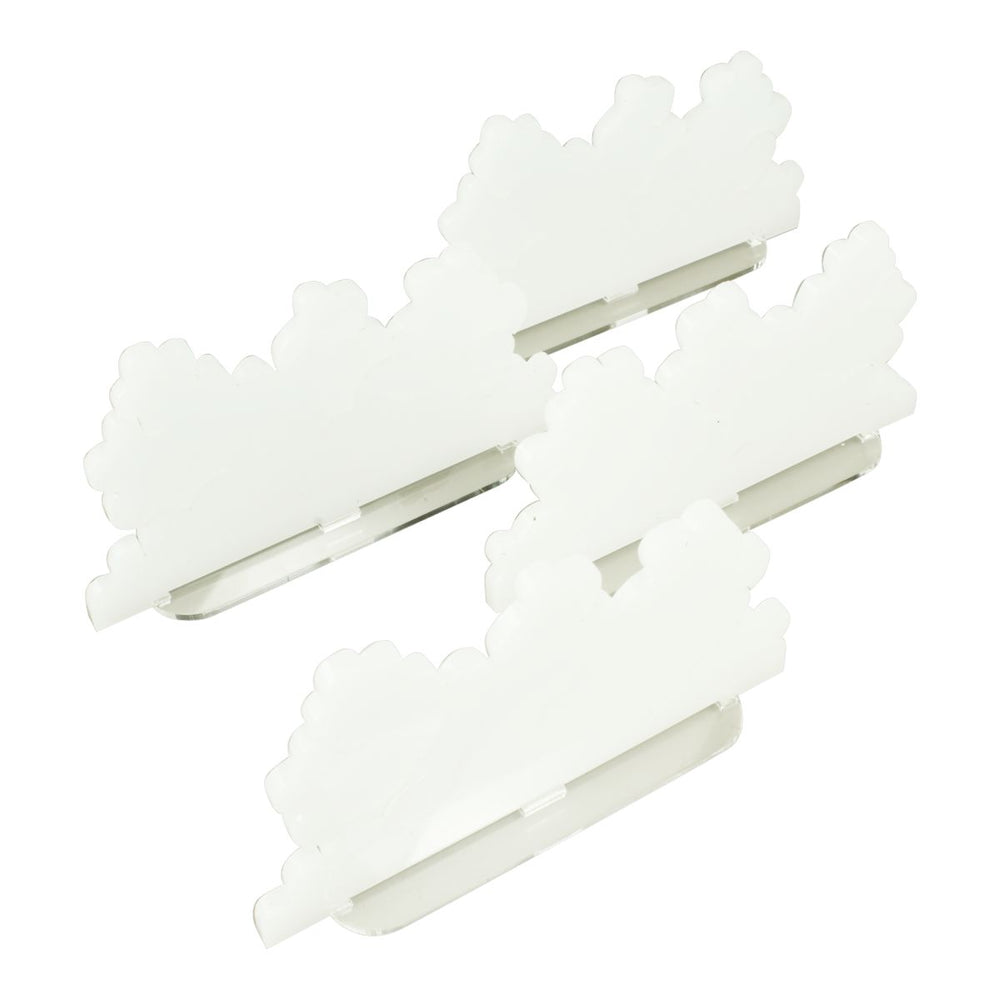 Smoke Screen Markers, Large, Translucent White (4) - LITKO Game Accessories