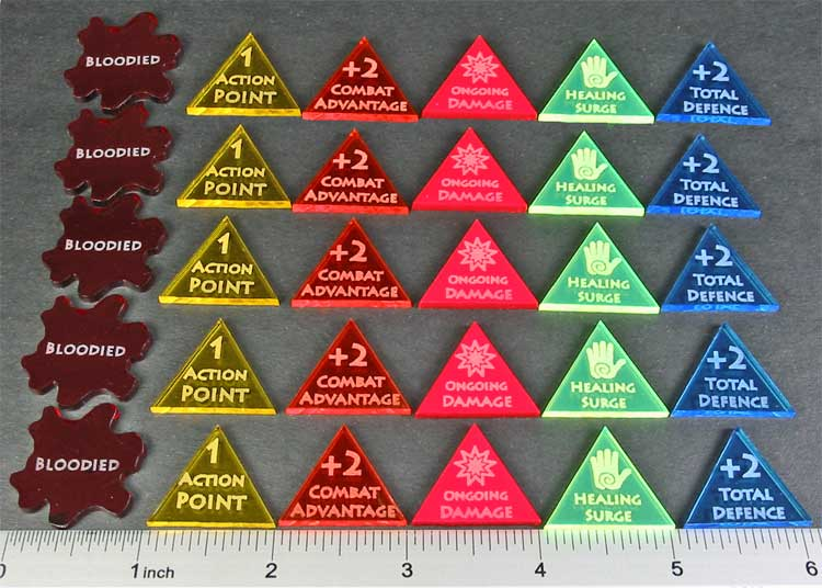 4E Action Token Set, Multi Color (30) - LITKO Game Accessories