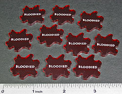 Bloodied Tokens, Translucent Red (10) - LITKO Game Accessories