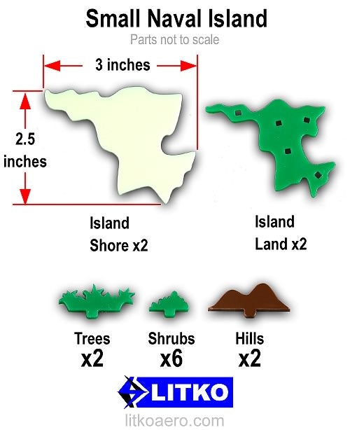 Small Naval Islands (2) - LITKO Game Accessories