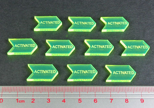 Activated Tokens, Fluorescent Green (10) - LITKO Game Accessories