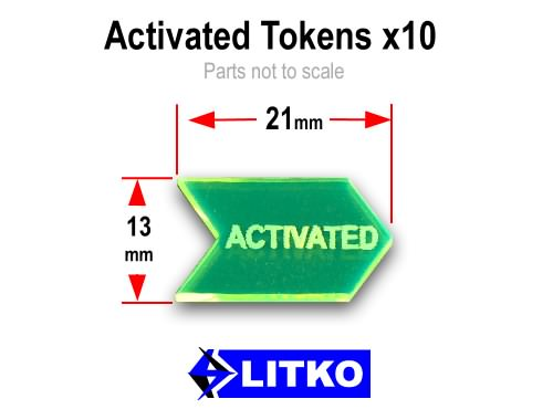 LITKO Activated Tokens, Fluorescent Green (10) - LITKO Game Accessories