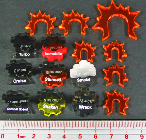 Gothic Vehicle Marker Set, Multi-Color (15) - LITKO Game Accessories