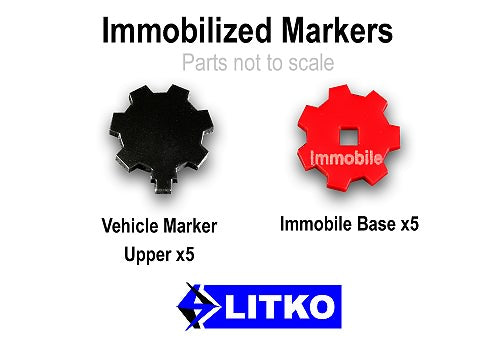 LITKO Immobilized Markers, Black & Red (5) - LITKO Game Accessories