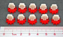 Mini Wound Marker Set, Red/Ivory (10) - LITKO Game Accessories