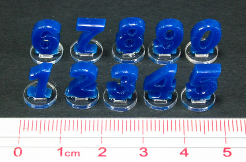 Micro Number, Blue (10) - LITKO Game Accessories