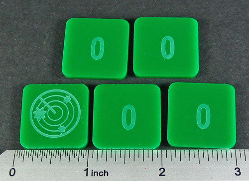 Numbered 0 Blip Set, Green (5) - LITKO Game Accessories