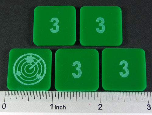 LITKO Numbered 3 Blip Set, Green (5) - LITKO Game Accessories