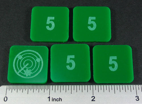 LITKO Numbered 5 Blip Set, Green (5) - LITKO Game Accessories