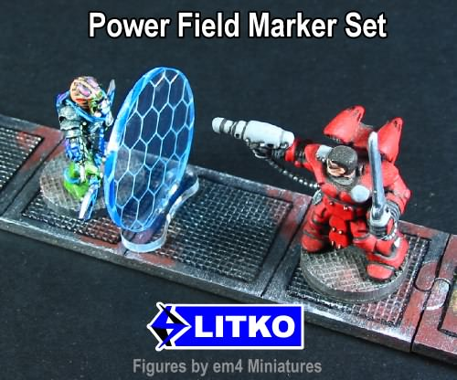 Power Field Markers, Transparent Light Blue (3) - LITKO Game Accessories