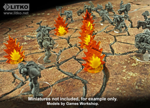 LITKO Artillery Strike Markers, Medium (5) - LITKO Game Accessories