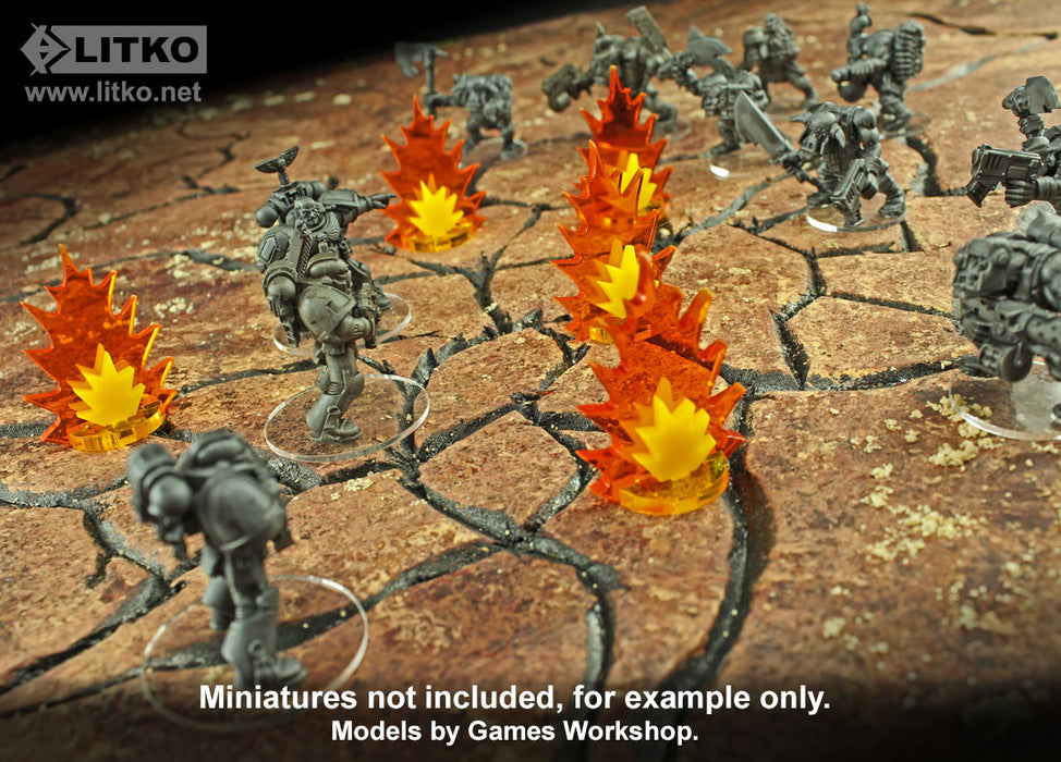 Artillery Strike Markers, Medium (5) - LITKO Game Accessories
