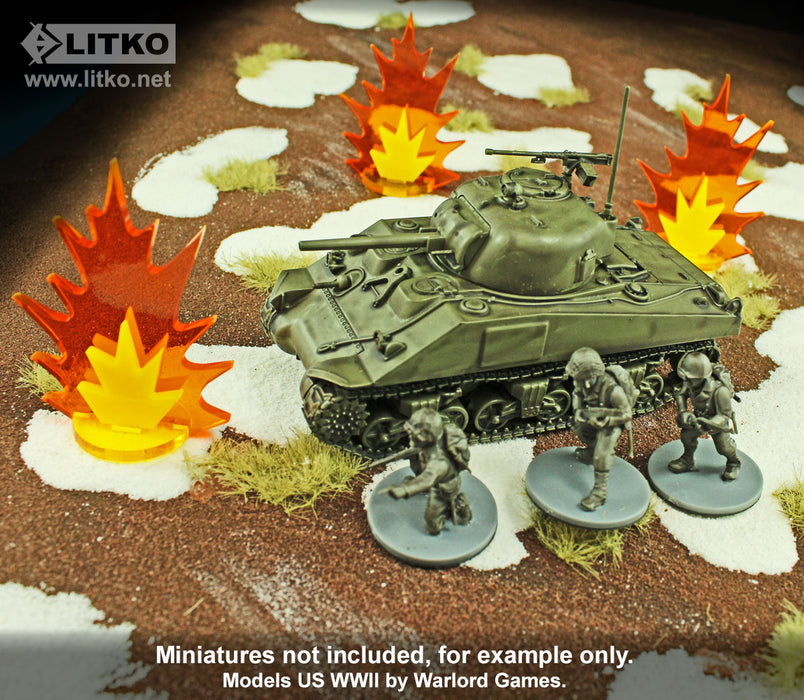 Artillery Strike Markers, Large (3) - LITKO Game Accessories