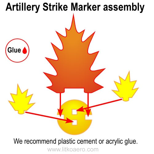 Artillery Strike Markers, Small (7) - LITKO Game Accessories