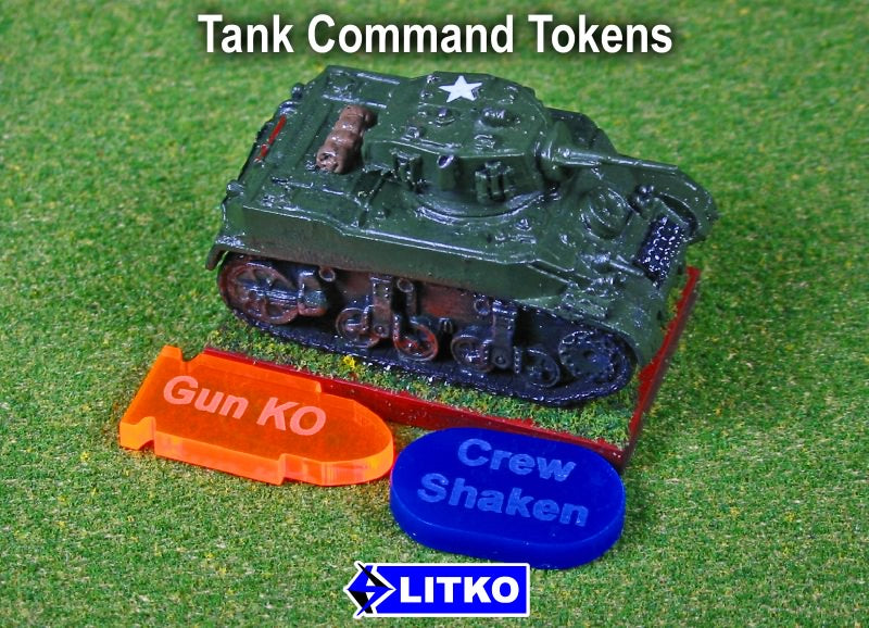 LITKO Tank Command Token Set, Multi Colored (20) - LITKO Game Accessories
