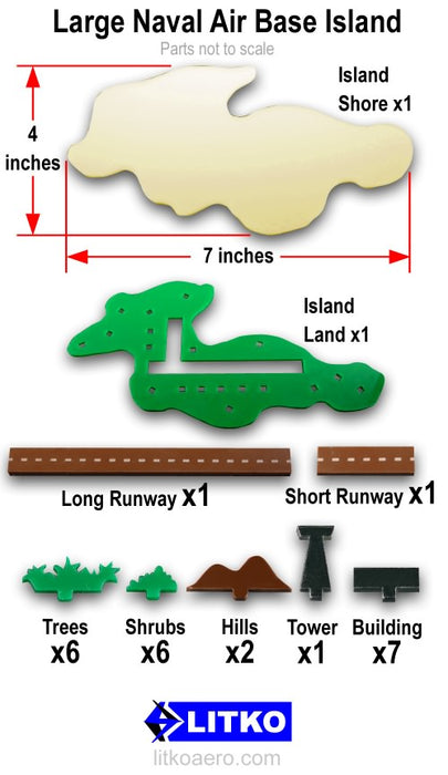 Naval Air Base Island, Large - LITKO Game Accessories