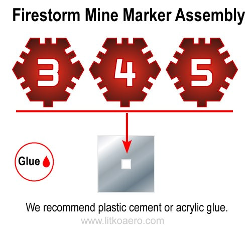 LITKO Firestorm Mine Markers, Translucent Red (15) - LITKO Game Accessories