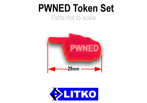 LITKO PWNED Tokens, Fluorescent Pink (10) - LITKO Game Accessories