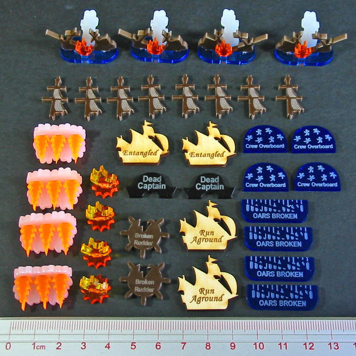 Age of Sail Wreckage Set, Multi-Color (36) - LITKO Game Accessories