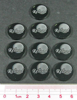 Musket Reload Tokens, Translucent Grey (10) - LITKO Game Accessories