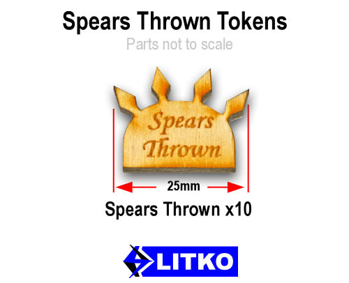 Spears Thrown, Natural Wood (10) - LITKO Game Accessories