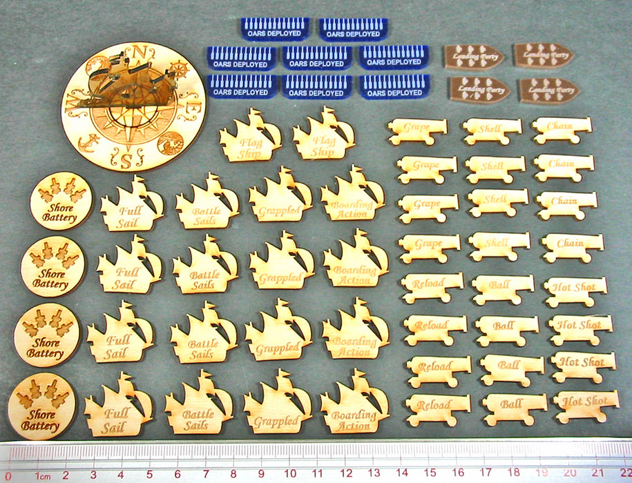 Age of Sail Combat Set (60) - LITKO Game Accessories