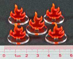 Flame Marker, Fluorescent Orange (5) - LITKO Game Accessories